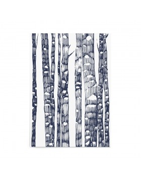 Poster Art Print Indigo Forest