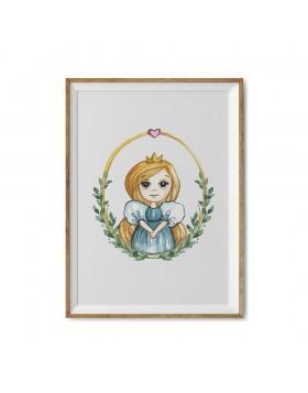 Art Print Little Princess Anna