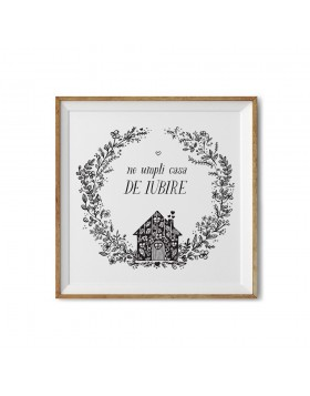 Poster Art Print Love House