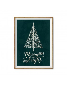 Poster Art Print Merry and Bright