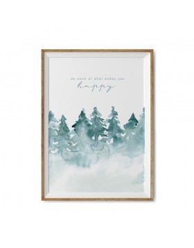 Art Print Misty Forest Quote
