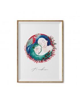 Poster Art Print Mother Embrace