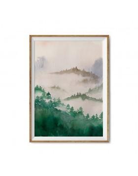 Poster Art Print Mountain Haze