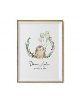 Art Print Mr. Hedgehog