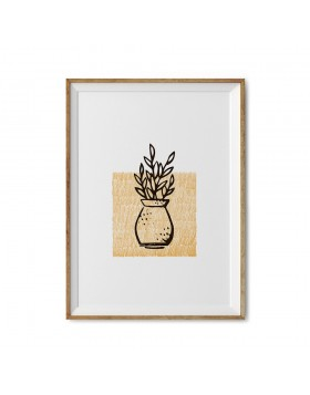 Art Print Olive Leaves Stamp