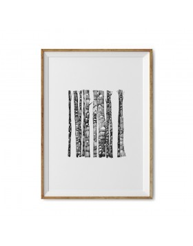 Poster Art Print Onyx Forest