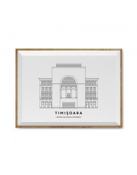 Art Print Opera Nationala Timisoara