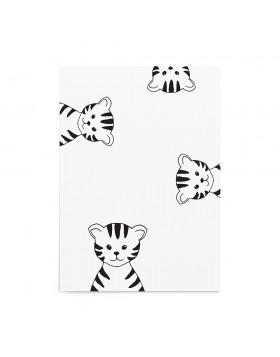 Art Print Peeking Tigers