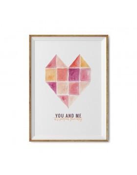 Poster Valentine's Perfect Geometry