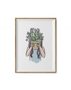 Poster Art Print Plant Mom