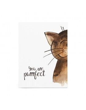 Art Print Purrrfect Cat