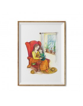Poster Art Print Reading Corner