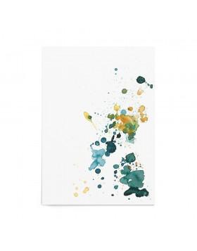 Art Print Sea Blue Splash