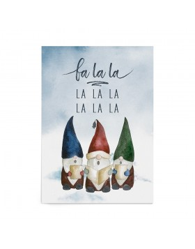 Poster Art Print Singing Gnomes