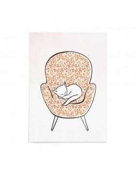 Poster Art Print Sleeping Kitty