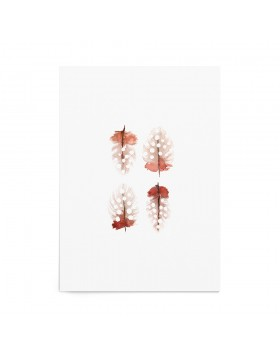 Art Print Spotted Feathers