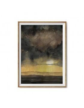 Poster Art Print Stormy Evening