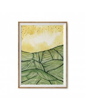 Poster Art Print Sunny Fields