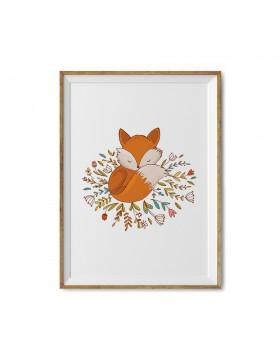 Poster Art Print Sweet Fox
