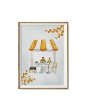 Poster Art Print Sweet Giraffe Candy Shop