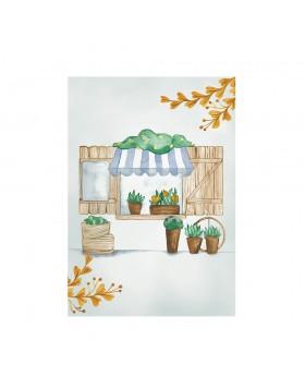 Poster Art Print Sweet Giraffe Flower Shop