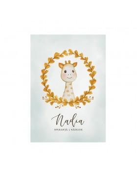 Poster Art Print Sweet Giraffe