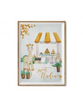 Poster Art Print Sweet Giraffe Street