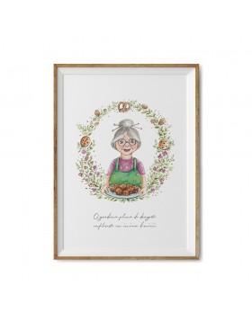 Poster Art Print Sweet Grandma