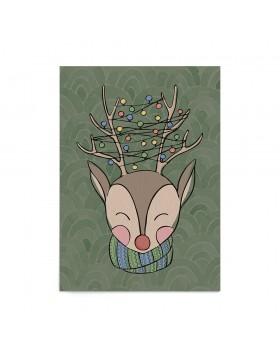 Poster Art Print Tangled Reindeer
