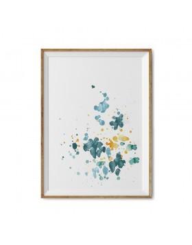 Art Print Teal Splash