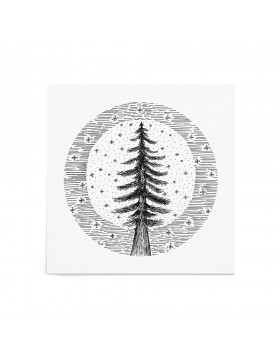 Poster Art Print Winter Moon