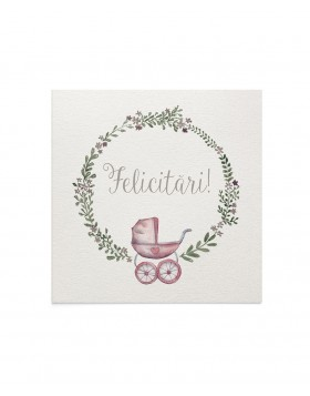 Felicitare Baby Stroller