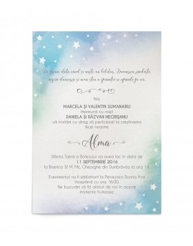 Invitatie de botez Little Star