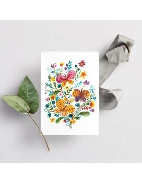 Felicitare Fluturi Butterfly Garden