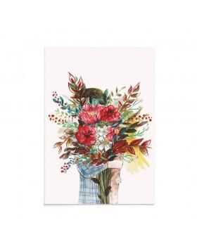 Felicitare Valentine's Floral Embrace
