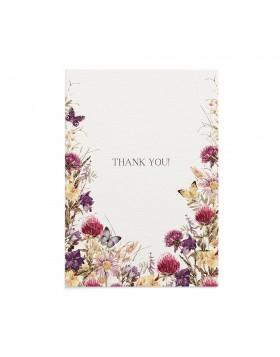 Felicitare Multumire Flower Meadow
