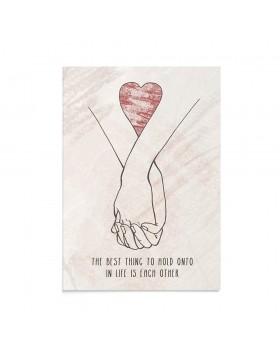 Felicitare Valentine's Holding Hands