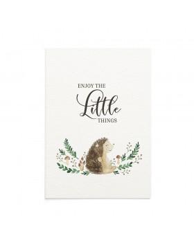 Felicitare Bebe Little Hedgehog
