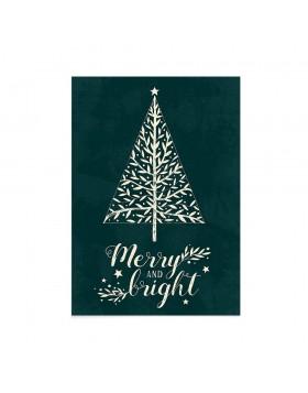Felicitare Craciun Merry and Bright