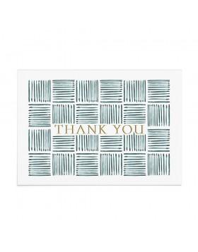 Felicitare Mesaj Multumire Teal Weave Gratitude