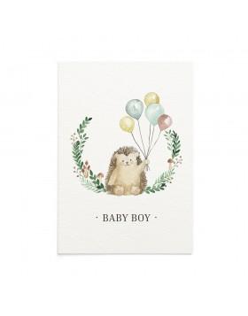 Felicitare Bebe Mr. Hedgehog