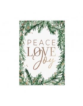 Felicitare Craciun Peace Love Joy