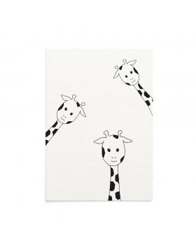 Felicitare Bebe Peeking Giraffes