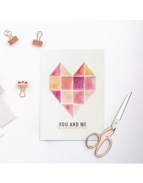 Felicitare Valentine's Perfect Geometry