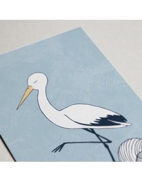 Felicitare Copii Sleepy stork
