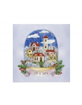 Felicitare Craciun Snowy Village