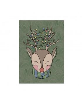 Felicitare Craciun Tangled Reindeer