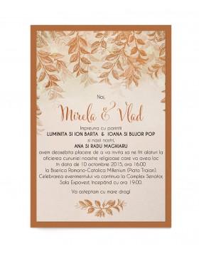 Invitatie de nunta Autumn Love