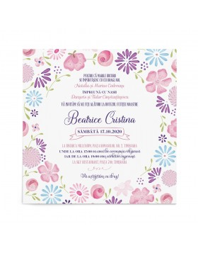 Invitatie de botez Cheerful Design