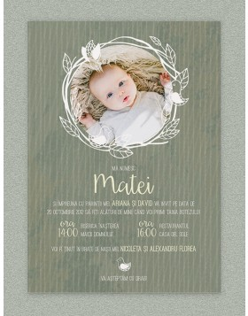 Invitatie digitala Bird Frame